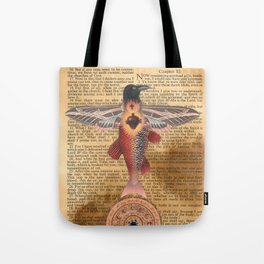 Sacred Heart Crow Tote Bag