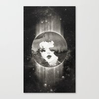 planet Canvas Prints featuring Planet by Ozghoul