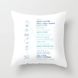 Things To Do When Bored Throw Pillow
