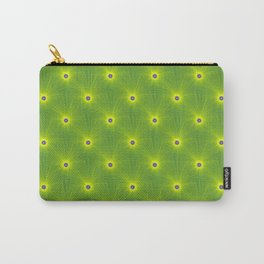 Yellow and Green Color Explosion Tiled Carry-All Pouch