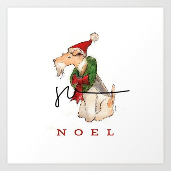 Wire Fox Terrier Noel by geministudio