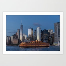New York City at Night Art Print