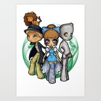 oz Art Prints featuring Oz  by Mickey Spectrum