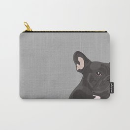 French Bulldog - Grey Carry-All Pouch