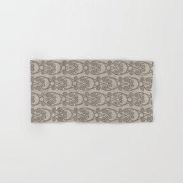 Crackled Scrolled Ikat Pattern - Tan Mocha Hand & Bath Towel