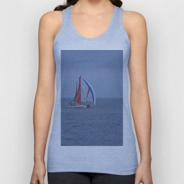 part 2 of 4 of Sailing Battle 42-56  - Transat Quebec St-Malo Unisex Tank Top