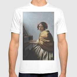 """Johannes Vermeer """"A Young Woman Seated at the Virginal"""" T-shirt"""