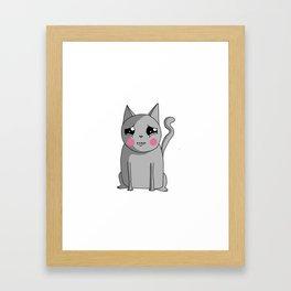 Cat with the Sad Eyes Framed Art Print