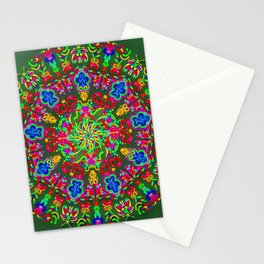 Magic butterfly circle Stationery Cards