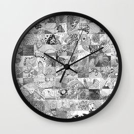 Doodling Together #4 Wall Clock