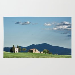 Vitaleta chapel in Val d'Orcia, Tuscany Rug