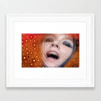 bjork Framed Art Prints featuring Bjork by Artstiles