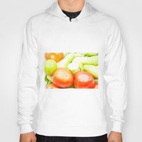 vegetables Hoodies featuring vegetables by Marcel Derweduwen
