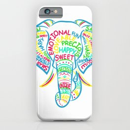 Down Syndrome Awareness Elephant T-Shirt iPhone Case