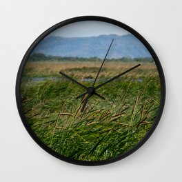 Beauty green landscape Wall Clock