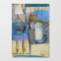 trumpet Canvas Prints featuring trumpet by Joasiekk
