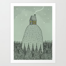 'The house on the hill' Art Print
