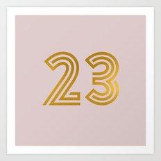 #23 (Pink) Art Print