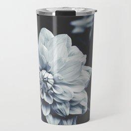 Dusty Blue Dahlia Travel Mug