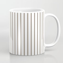 Mulch Brown Pinstripe on White Coffee Mug