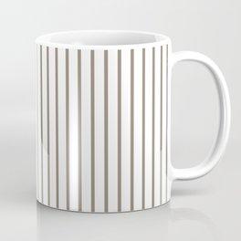 Mulch Brown Pinstripe on White Coffee Mug