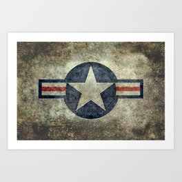 US Airforce style Roundel insignia V2 Art Print