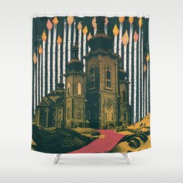 Sleep, those little slices of death Shower Curtain