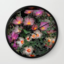 Portulaca Embers Wall Clock