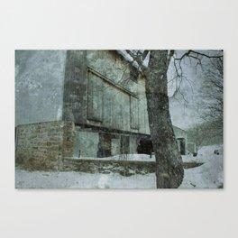 Snow Barn Canvas Print