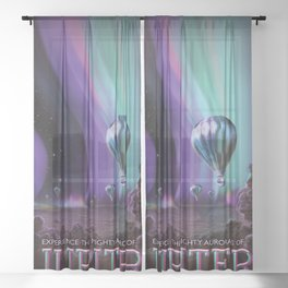 Jupiter Poster Sheer Curtain