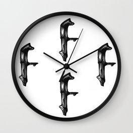 Fat Iron F Wall Clock