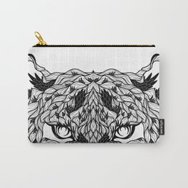 LEOPARD head. psychedelic / zentangle style Carry-All Pouch