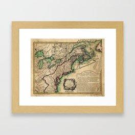 Map of the East Coast of America (1756) Framed Art Print