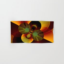 Brown and Gold Circles Geometric Abstract Hand & Bath Towel