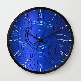 Blue Circle Background Wall Clock