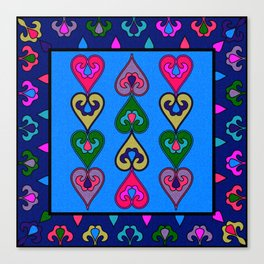 Colorful Ethnic Indian Valentines Canvas Print