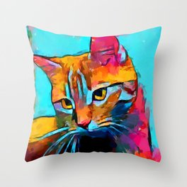 Cat 6 Throw Pillow