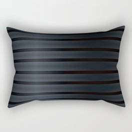 Black Silk Stripes Rectangular Pillow