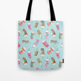 Coffee Crazy Toss in Blueberry Tote Bag