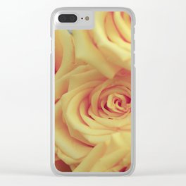Bed of Roses - Yellow Clear iPhone Case