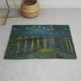 Classical Masterpiece 'Starry Night Over the Rhône' by Vincent van Gogh Rug