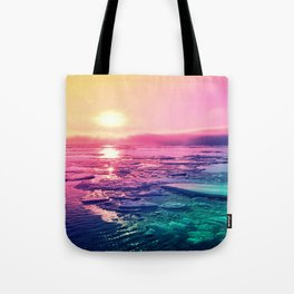 Pastel Sunset Waters Tote Bag