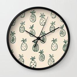 Pineapple Galore Wall Clock