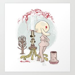 """...Waste ye not-a-droppe..."" Art Print"