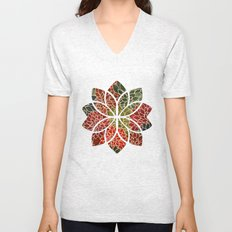 Floral Abstract 7 Unisex V-Neck