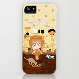 Kittie Girl iPhone Case
