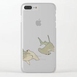 Hammerhead Sharks Clear iPhone Case