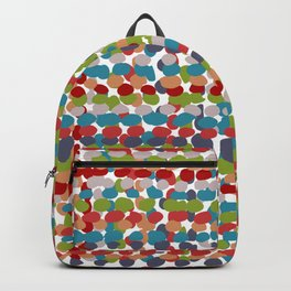 Speckled, Colorful Abstract Dot Pattern, Red, Blue, Green, Orange Backpack