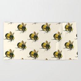 Vintage Scientific Bee Beach Towel