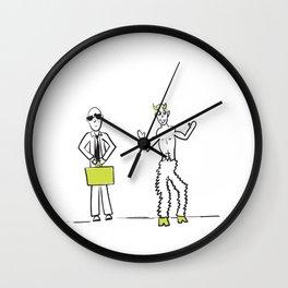 Devil's Advocate Idiom Wall Clock
